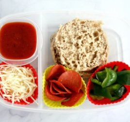 "This healthier ""lunchable"" pizza lunchbox is just as easy and fun as the classic pre-made lunch but with better nutrition thanks to some simple and fresh swaps."