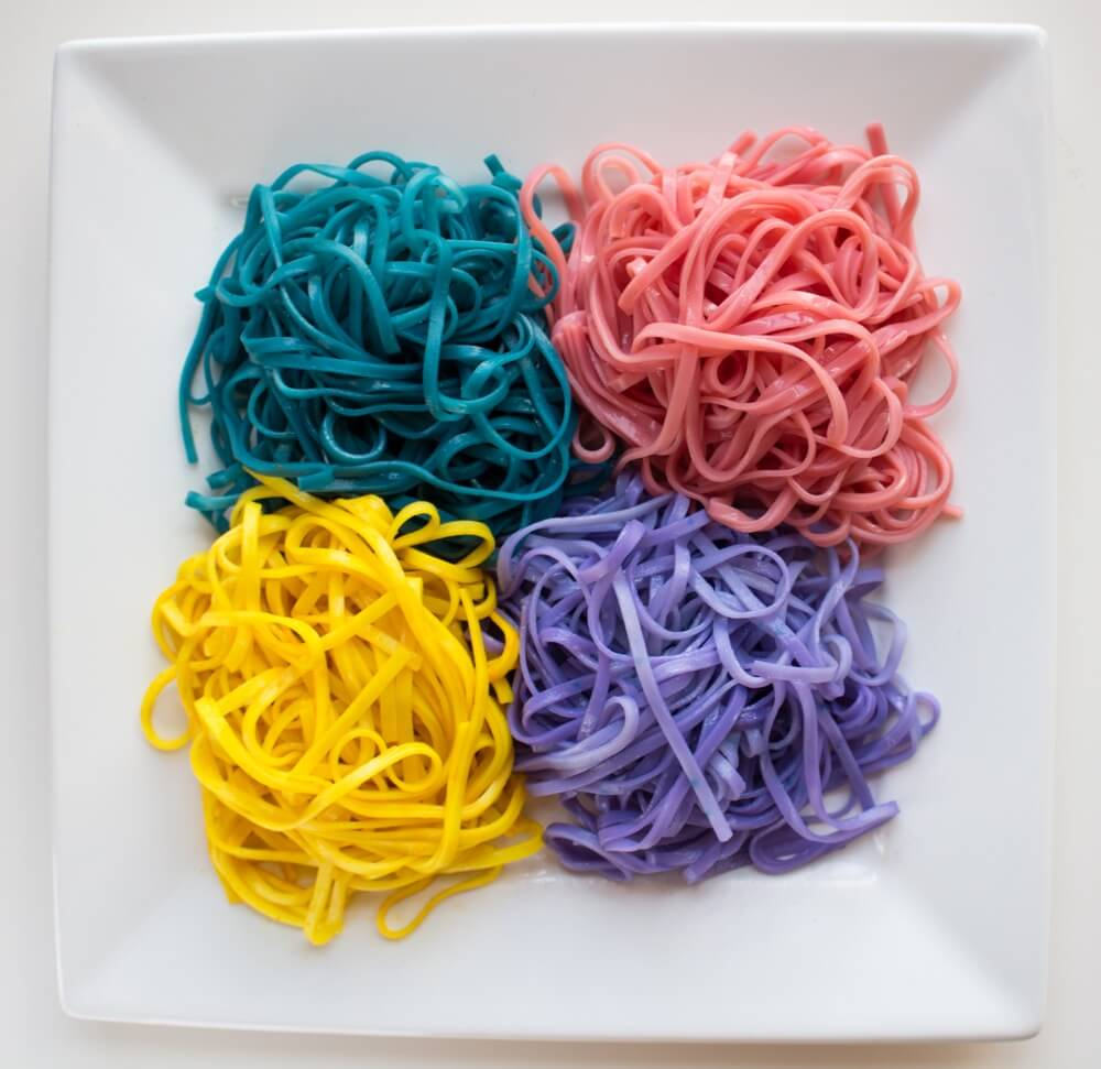 Twist up fork of magical Unicorn Noodles for a bright, fun and colorful meal because, yes, life CAN be all rainbows and unicorns all the time.