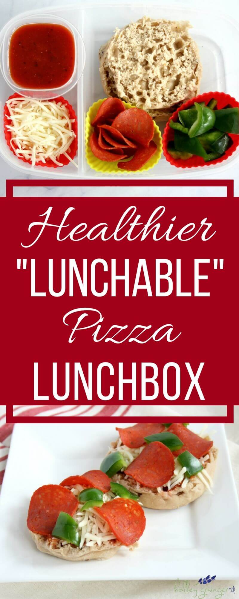 """This healthier """"lunchable"""" pizza lunchbox is just as easy and as fun as the classic pre-made lunch but with better nutrition thanks to some simple and fresh swaps. Who knew pizza could be good for you?"""