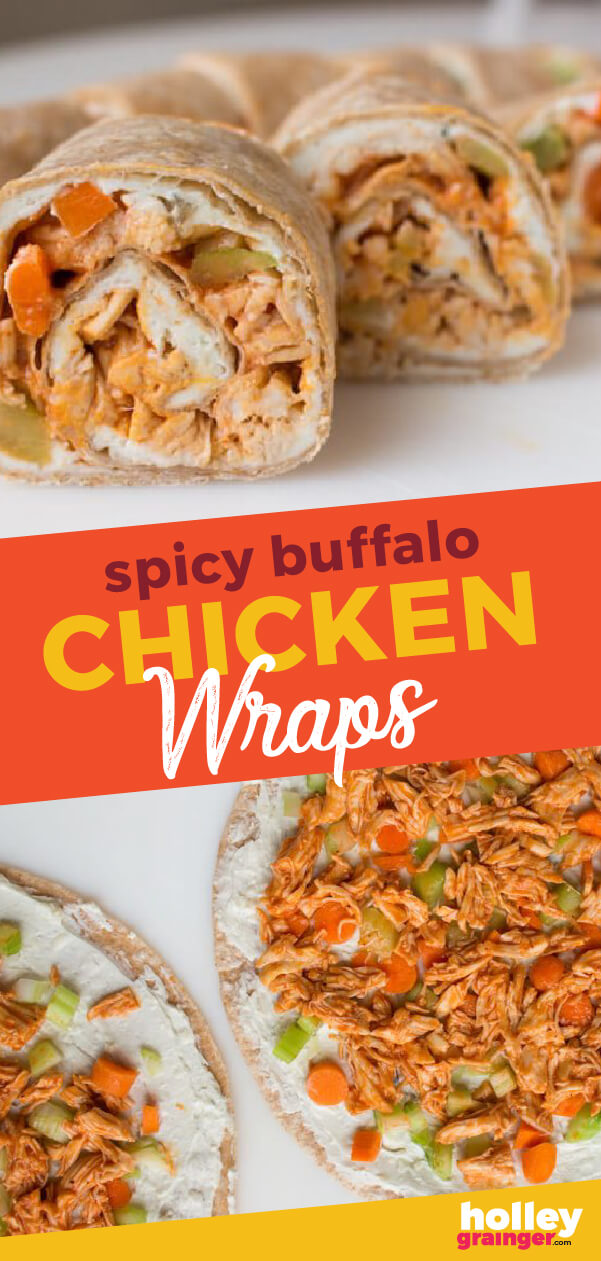 Spicy Buffalo Chicken Wraps, from Holley Grainger
