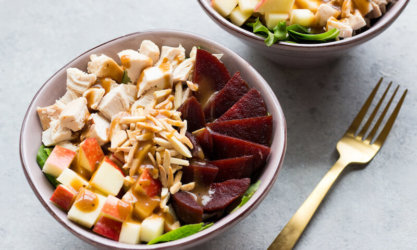 Autumn Salad with Chicken, Apples and Beets
