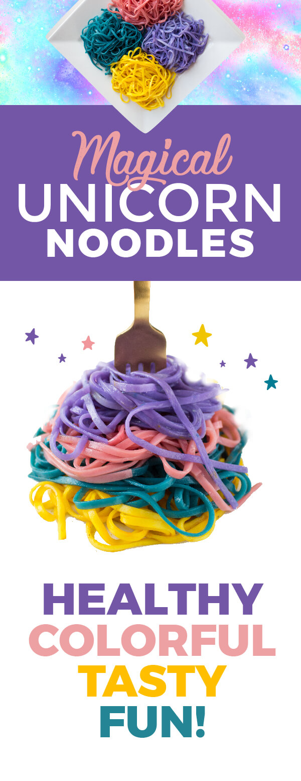 Bright, bold, fun, cheerful and magical---life CAN be all rainbows and unicorns all the time! #unicorn #unicornnoodles #fooddyes #naturalfooddyes #kidfood #rainbow #funfood #cleverfulliving #cleverr