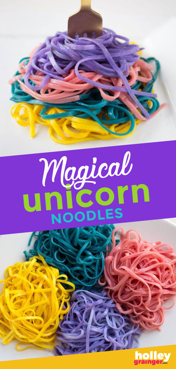 Magical Unicorn Noodles, from Holley Grainger
