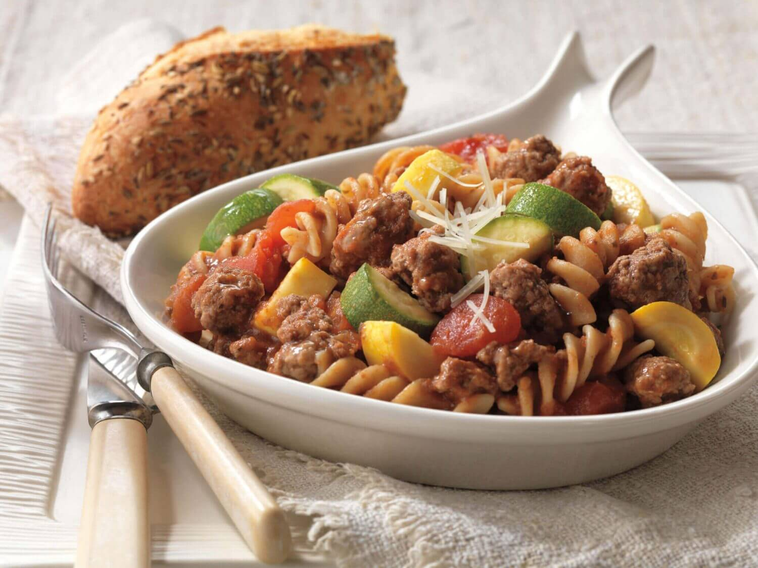 Make Beef and Pasta Skillet Primavera for a nutritious meal that the entire family – infants and toddlers included – will eat and love.