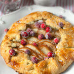 Pear Galette with Sparkling Cranberries from Holley Grainger