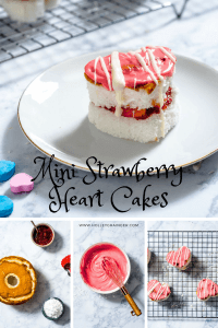 For a healthier twist on the classic Little Debbie Valentine's Day cakes, these Mini Strawberry Heart Cakes with Greek Yogurt Frosting are an adorable and delicious way to celebrate the day.