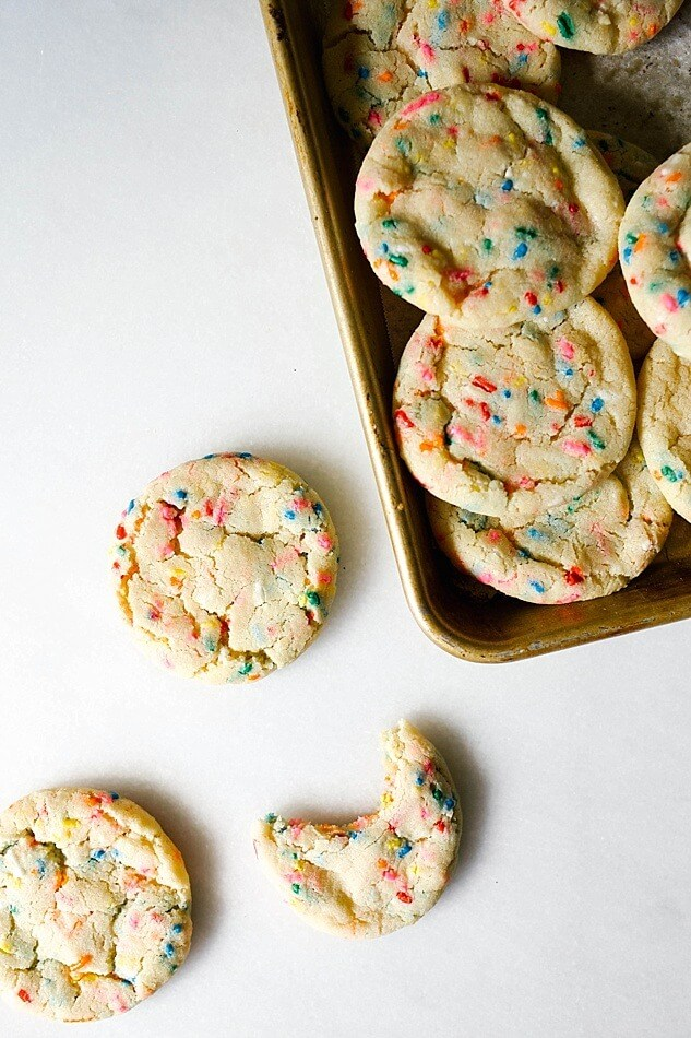 Springtime Cookies: Funfetti Cookies Wood and Spoon