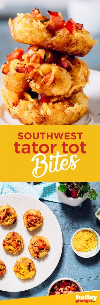 Southwest Tater Tot Bites from Holley Grainger