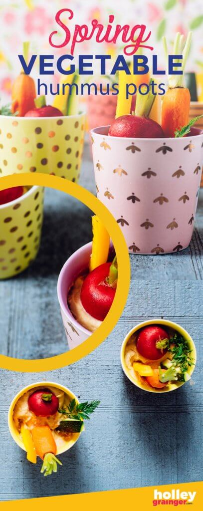 Spring Veggie Hummus Pots