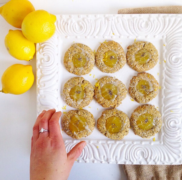 Lemon Poppyseed Thumbprint Cookies