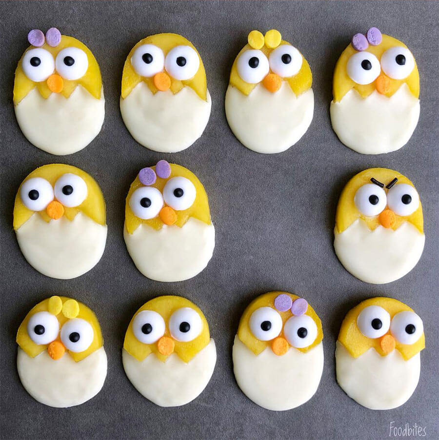 Mango and White Chocolate Easter Chicks from Foodbites