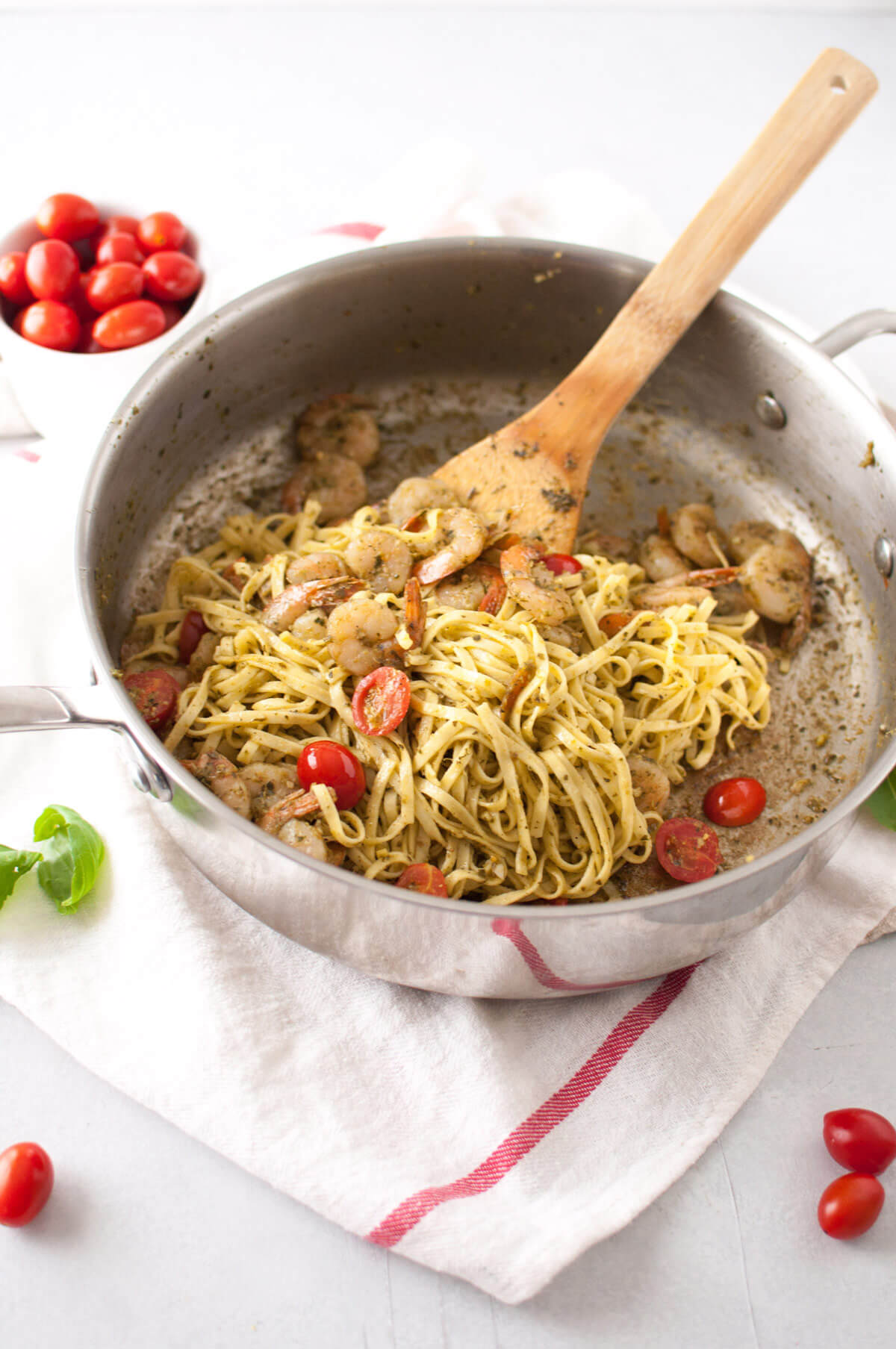 4-Ingredient Shrimp and Pesto Pasta from Holley Grainger