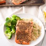 Dijon Roasted Salmon Fillets by Holley Grainger