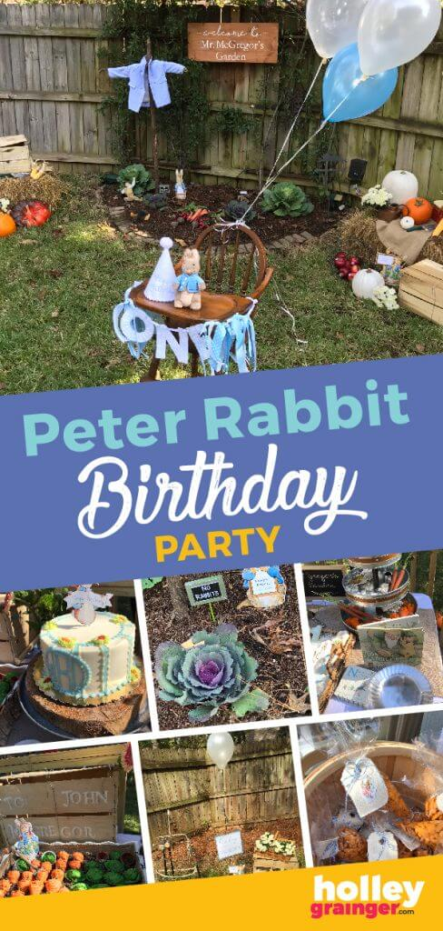 Host a Peter Rabbit Birthday Party from Holley Grainger