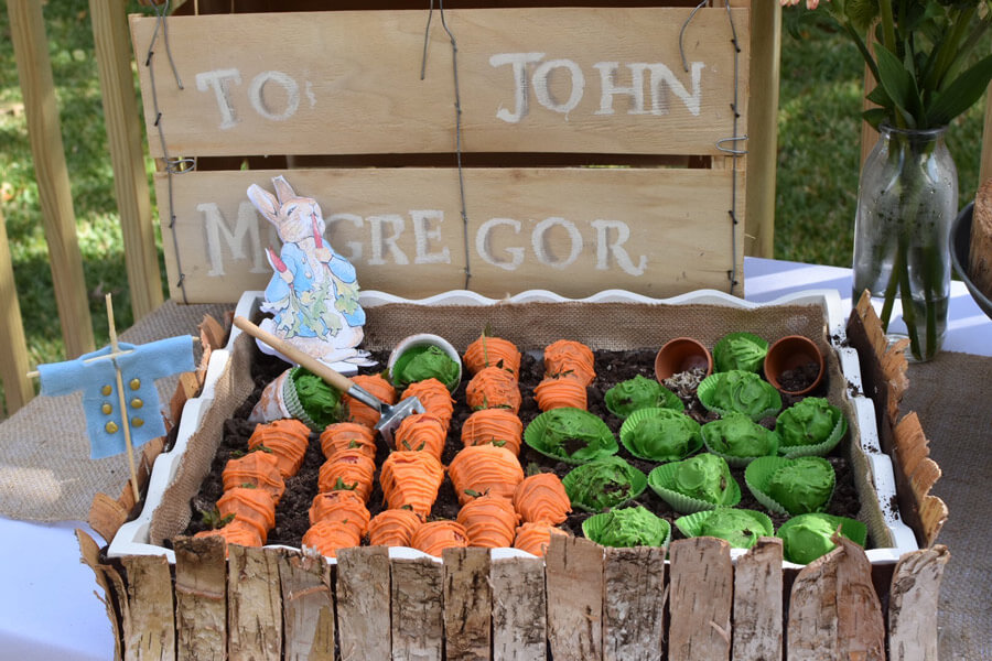 Recipes for your Peter Rabbit Birthday Party - Strawberry Carrots and Truffle Cabbages