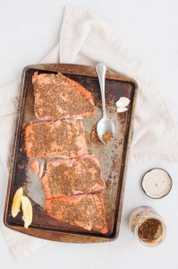 Maple Roasted Dijon Salmon from Holley Grainger
