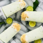 Key Lime Pie Mojito Pops (Greek Yogurt Popsicles) from Holley Grainger