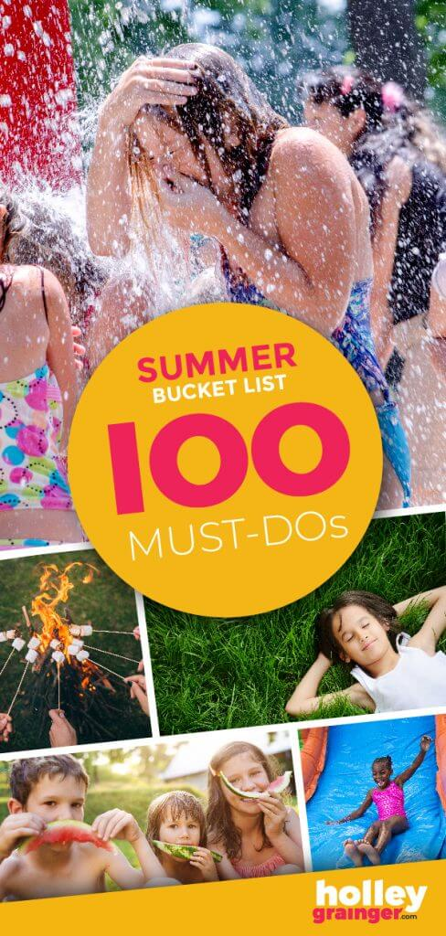 Summer Bucket List from Holley Grainger - 100 Must Dos