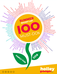 Summer Bucket List -- 100 Must Dos from Holley Grainger