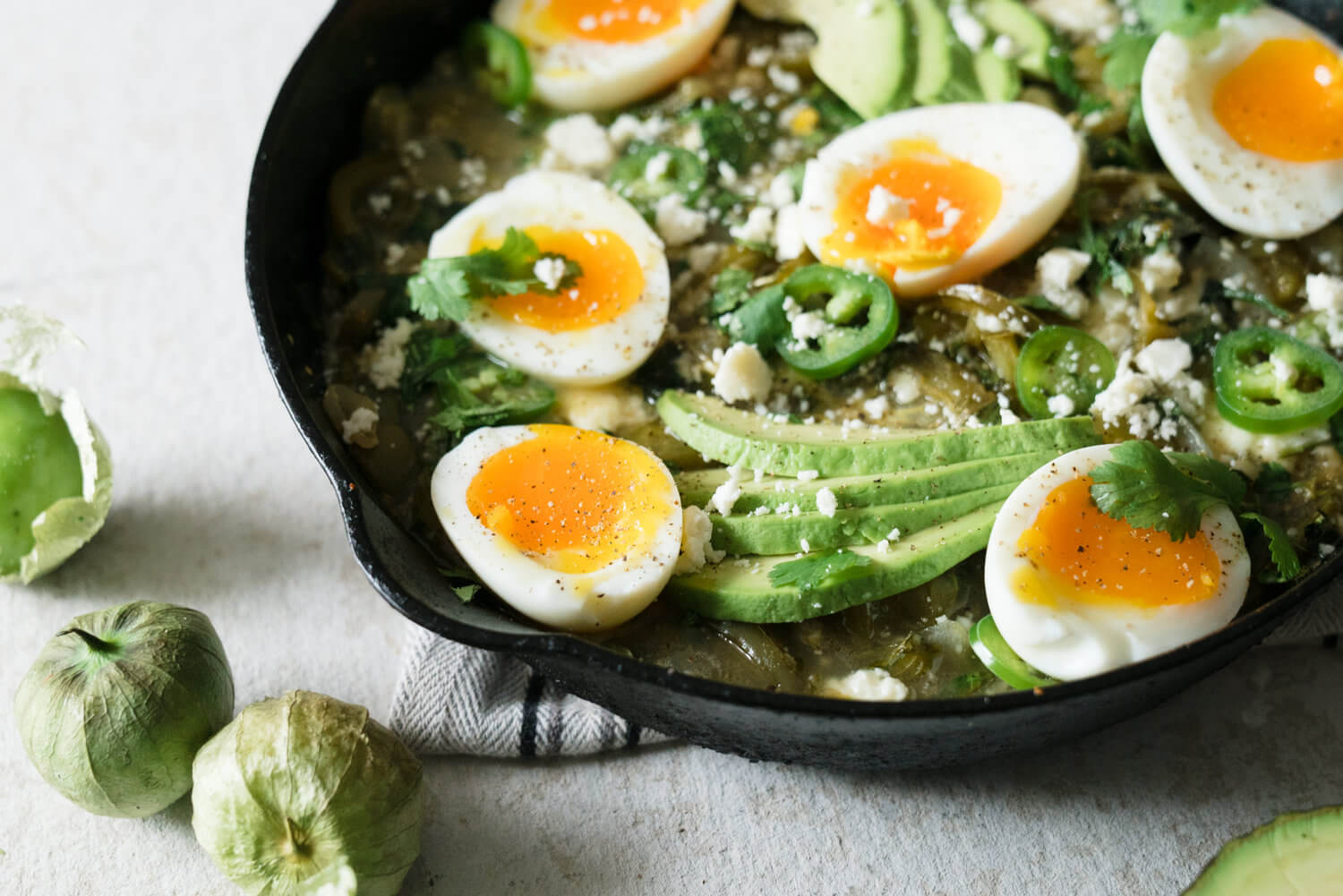 Green Tomatillo Shakshuka from Healthfully Ever After