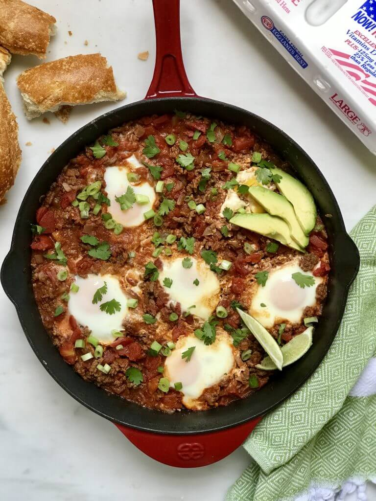 Easy Skillet Shakshuka - Holley Grainger