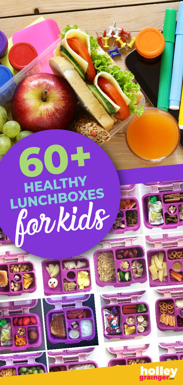 60+ healthy lunchboxes for kids from a real mom--that's over 3 months of school! #healthylittlelunchboxes