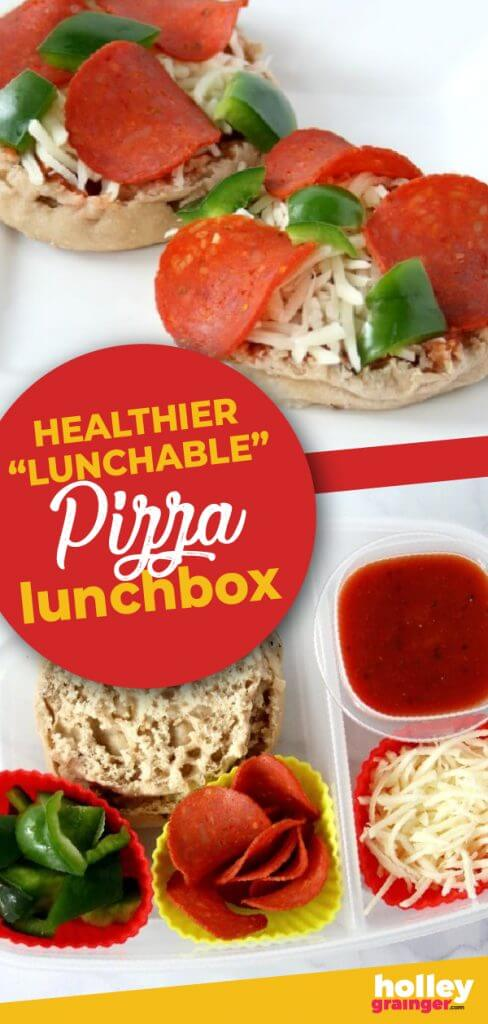 "Healthier ""Lunchable"" Pizza Lunchbox from Holley Grainger"