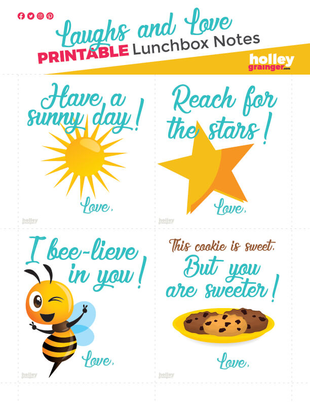Holley Grainger Lunchbox Love Notes