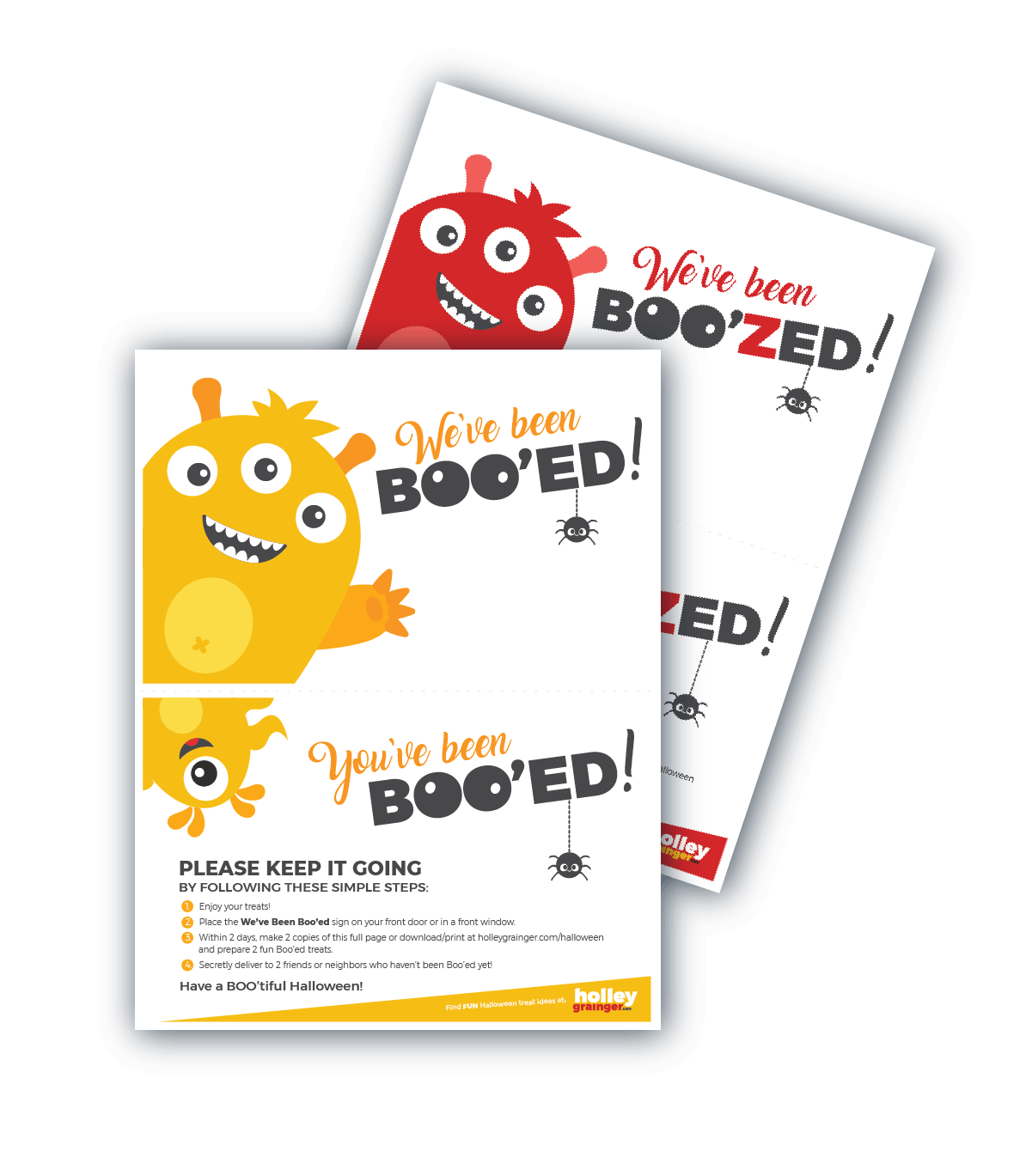 photograph regarding You've Been Booed Printable named Youve Been Booed! Absolutely free Halloween Printable Handle Recommendations