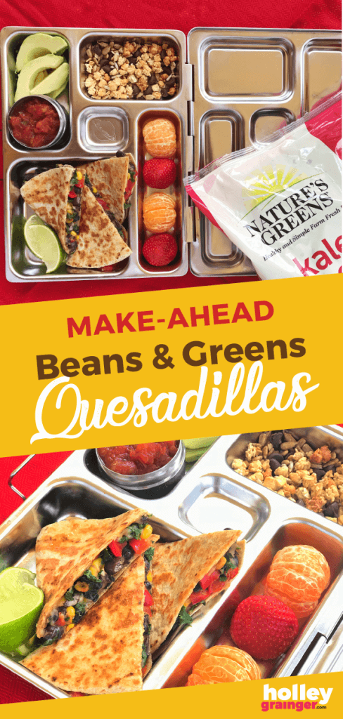 Holley Grainger Make-Ahead Beans and Greens Quesadillas