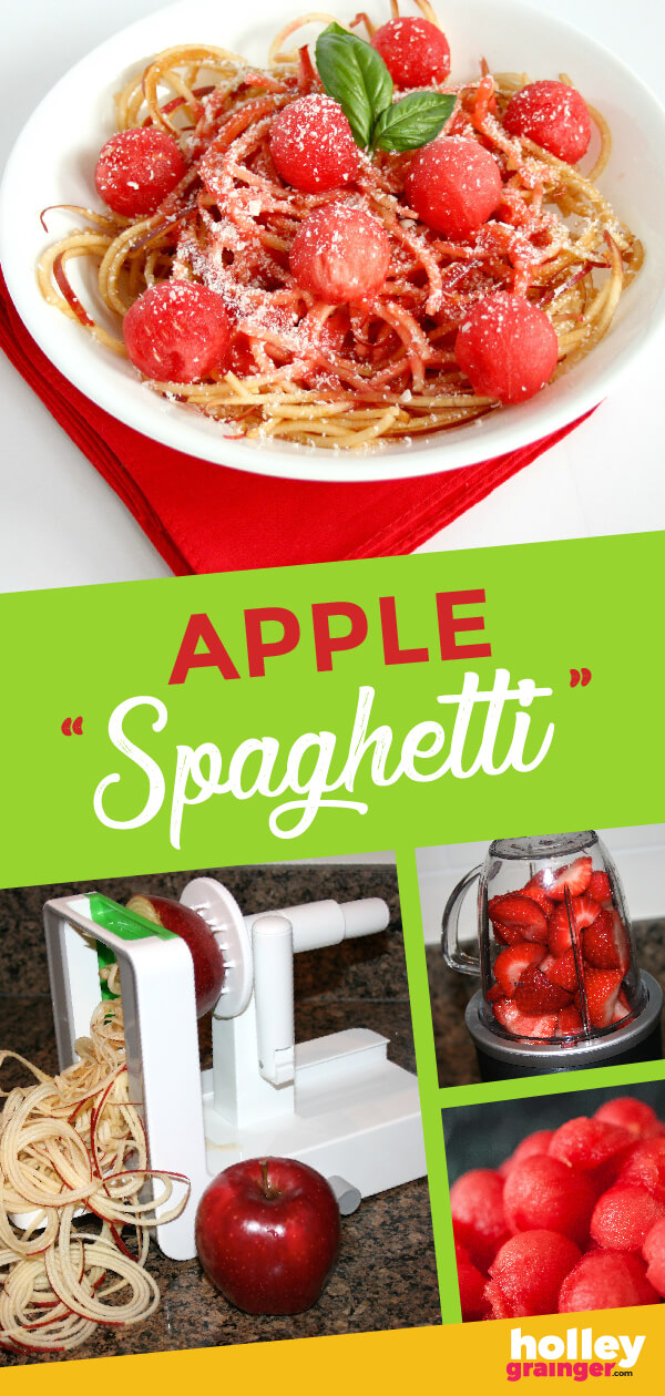 Think this is just ordinary spaghetti? Guess again! This simple 5 ingredient Apple Spaghetti is a fun and creative dessert that your whole family will love!