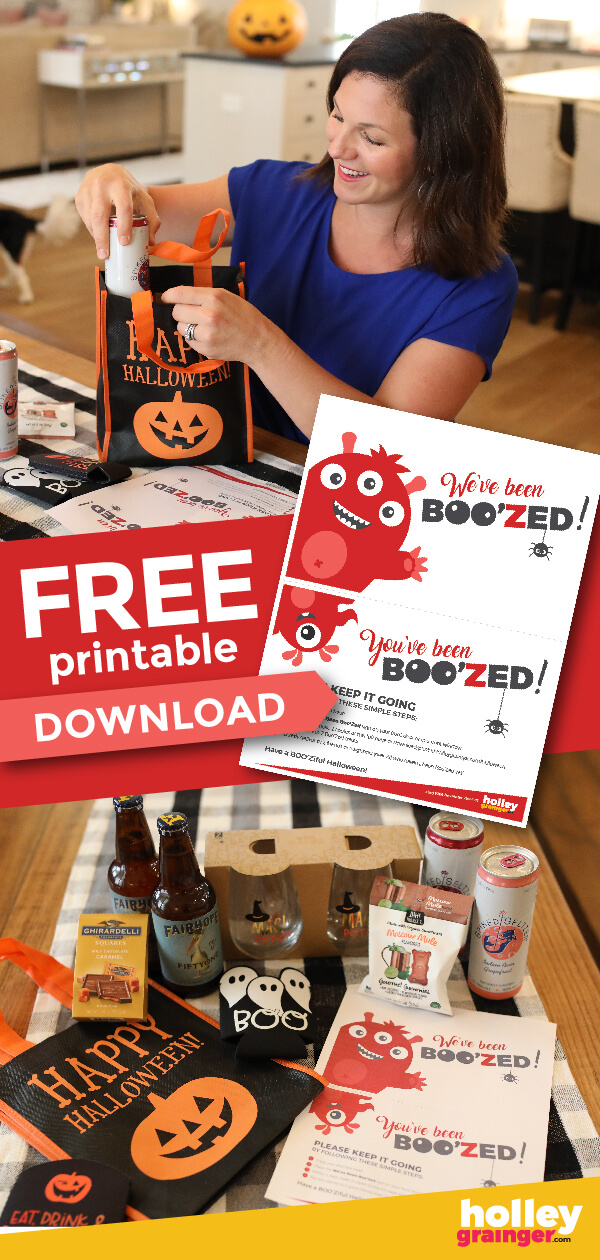 You've Been Boo'Zed Free Printable, from Holley Grainger