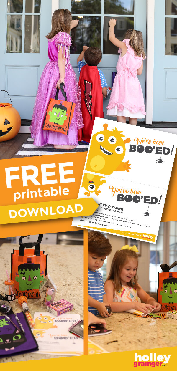 Boo! I've got your FREE You've Been Booed and You've Been Boo'zed Printables and Treat Ideas right here!! Download and print them now and then check these FUN ideas for who to Boo and what to give.