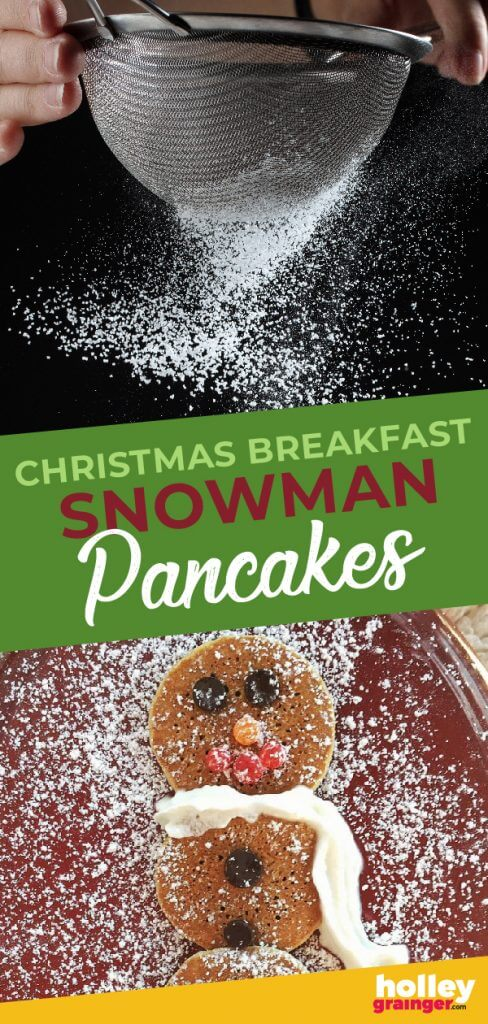 Christmas Breakfast Snowman Pancakes, from Holley Grainger
