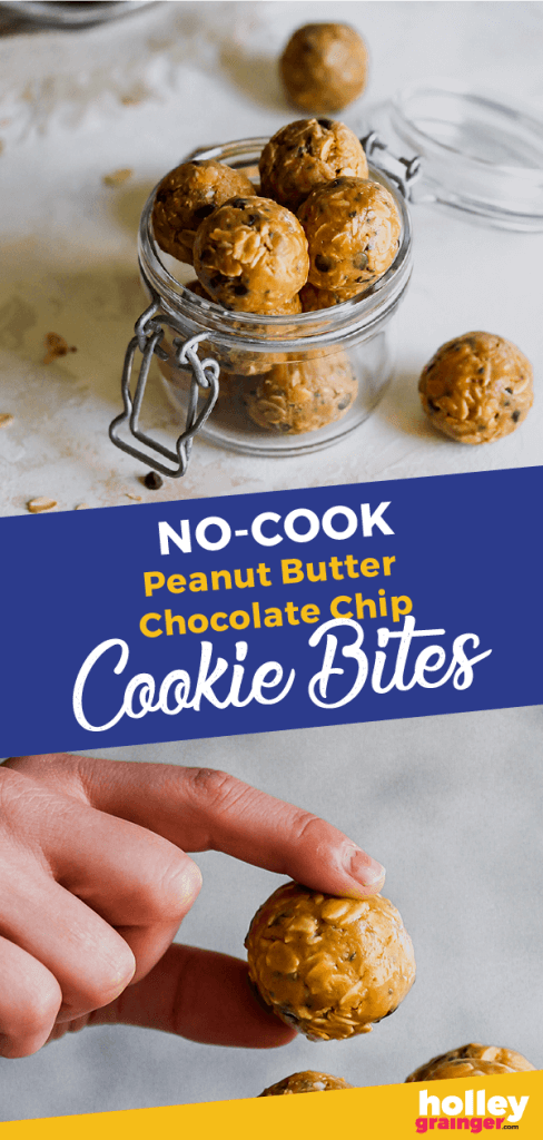Holley Grainger No-Cook Peanut Butter Chocolate Chip Cookie Bites