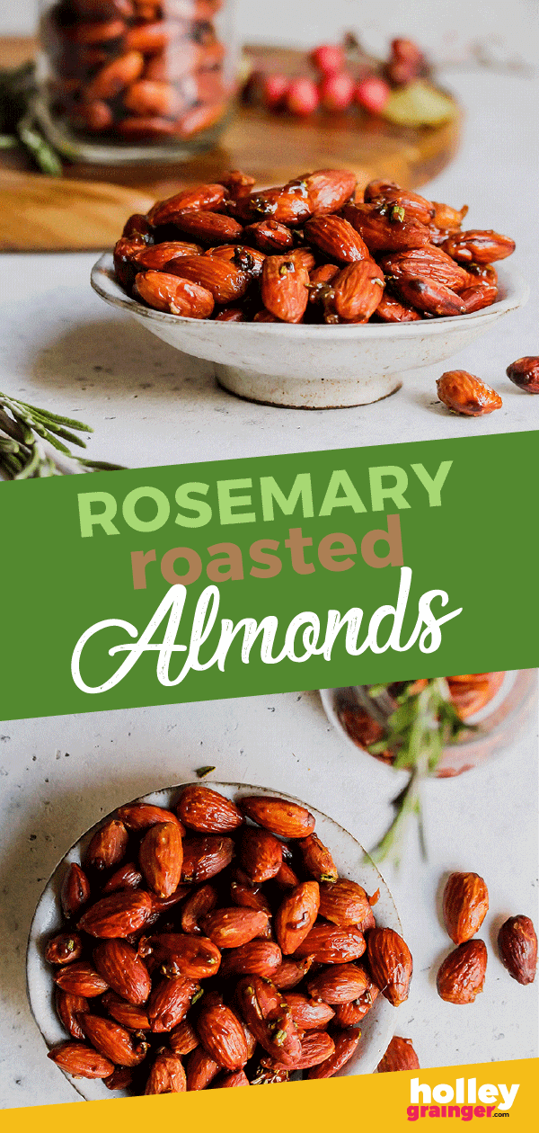 Rosemary Roasted Almonds by Cleverful Living with Holley Grainger