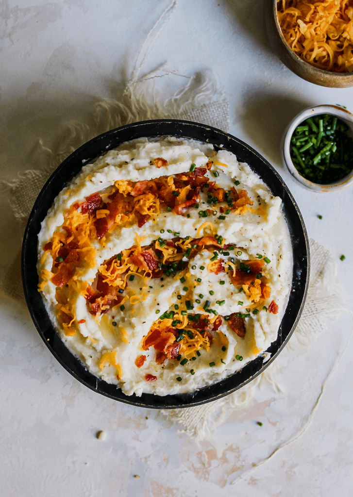 Shortcut Loaded Mashed Potatoes from Holley Grainger