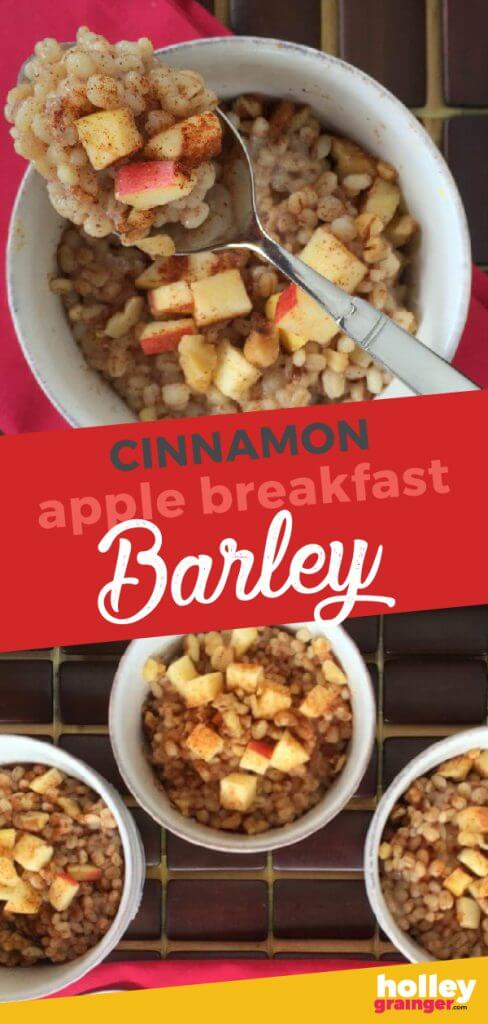 Cinnamon Apple Breakfast Barley from Holley Grainger