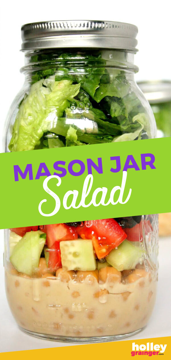 Liven up your lunchbox or summer picnic with these simple make-ahead Mason Jar Cobb Salads.