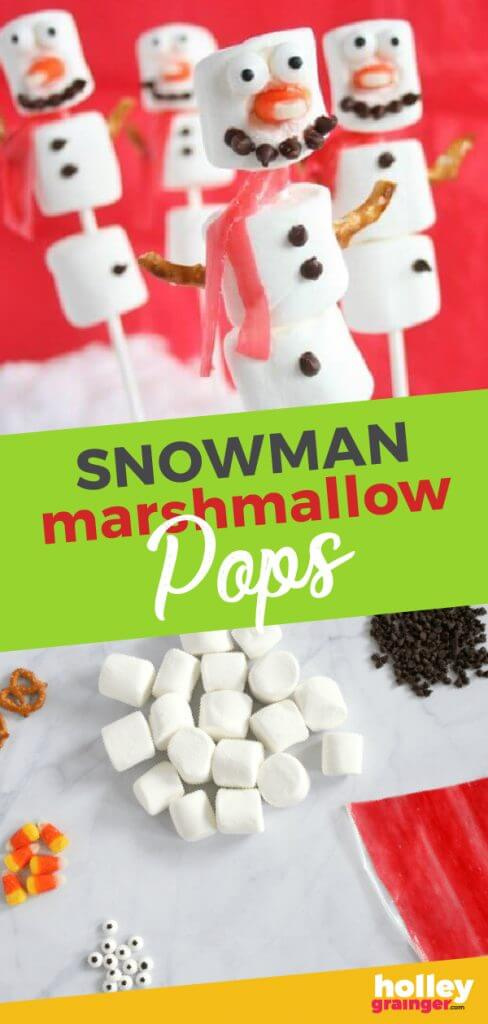 Snowman Marshmallow Pops from Holley Grainger