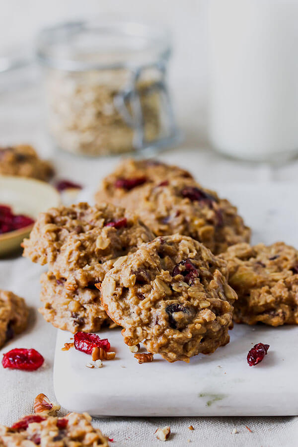 Cranberry Oatmeal Pecan Breakfast Cookies, from Holley Grainger