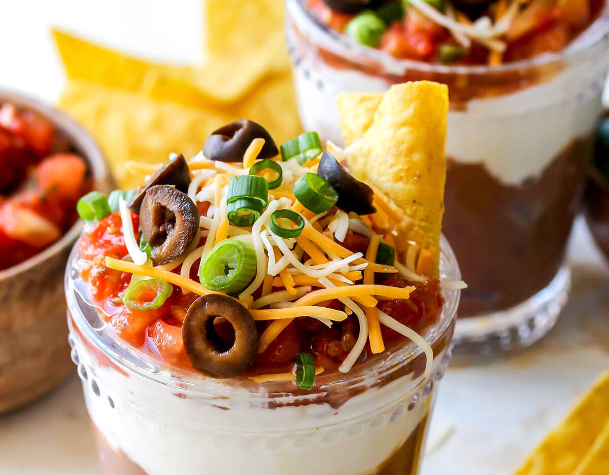 Individual 7-Layer Dip, from Holley Grainger