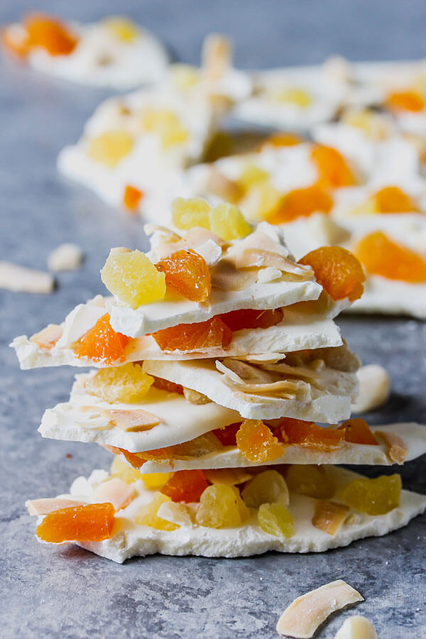Tropical White Chocolate Bark, from Holley Grainger