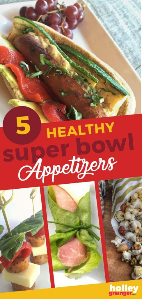 5 healthy super bowl appetizers #superbowl #partyfood #healthyappetizers