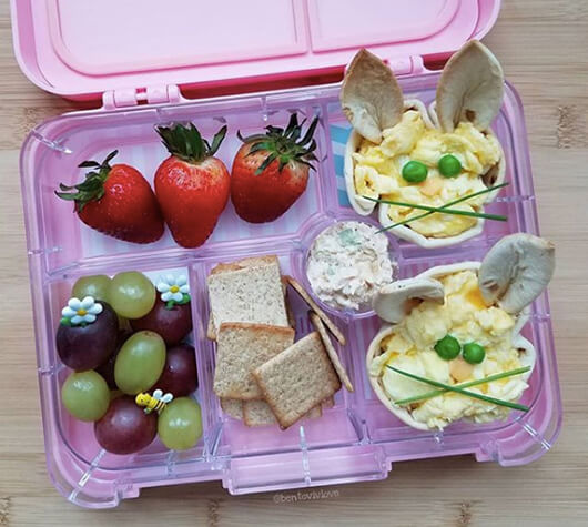 Easter Lunchbox Ideas gathered by Holley Grainger from bentovivlove