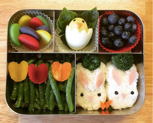 Easter Lunchbox Ideas gathered by Holley Grainger from foods4so