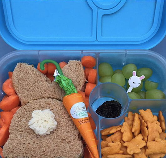 Easter Lunchbox Ideas gathered by Holley Grainger from kinderlunch