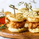 Mini Rosemary Chicken and Waffles from Holley Grainger