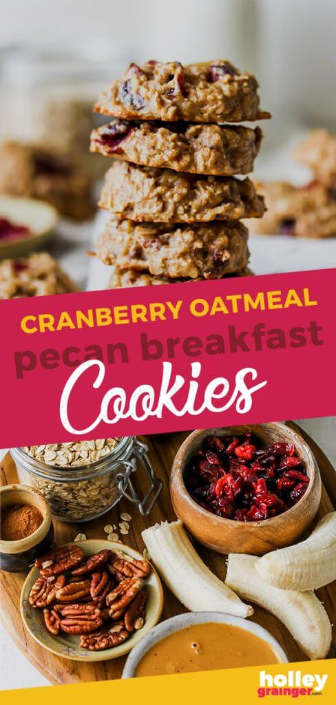 Cranberry Oatmeal Pecan Breakfast Cookies from Holley Grainger