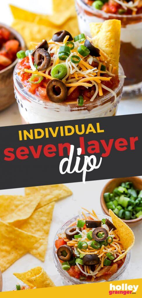 Individual Seven Layer Dip from Holley Grainger
